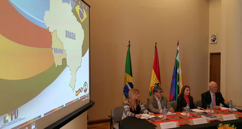 Acto de inauguración de la II Reunión del Grupo de Trabajo de Cooperación Técnica Brasil - Bolivia. Foto: La Razón