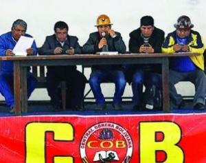 En defensa de la CNS, la COB determina paro de 48 horas con movilizaciones