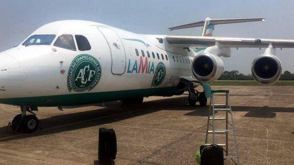 El avión de LAMIA que trasladó al plantel del Chapecoense
