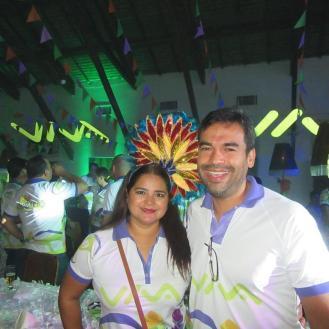 Lorena Huebe y Ramiro Arevalo