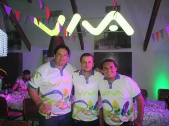 Marcos Vaca, Alex Sanjinez, Julio Sandoval