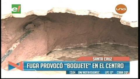 Saguapac analiza causa del hueco de 3 metros de profundidad