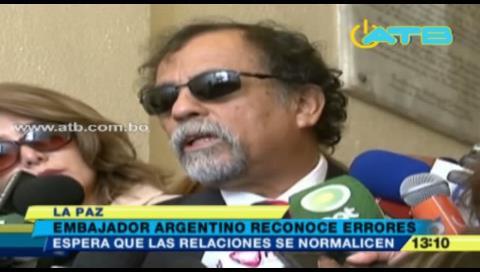 Embajador argentino reconoce error tras endurecer control migratorio en su país