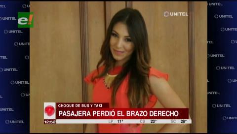 Joven venezolana perdió un brazo en el accidente de la carretera a Cotoca