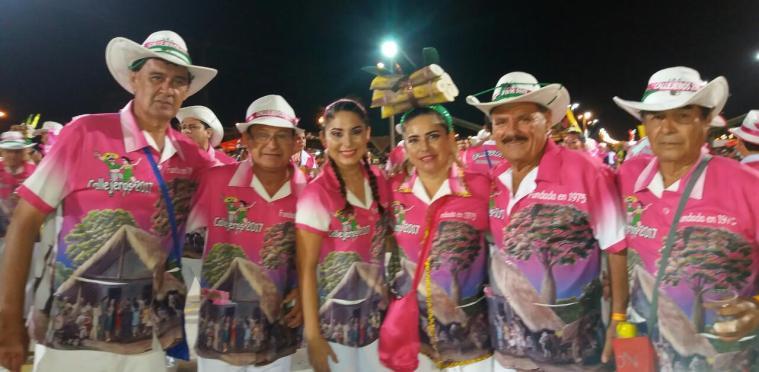 Callejeros: Erwin Nuñez, Fredy Zankis, Luciano Alvarez, Elizabteh Prieto y Elizabeth Alvarez