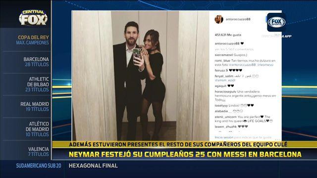 Neymar festejó sus 25 años con Messi