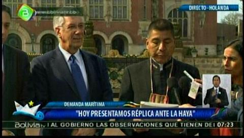 Bolivia entregó su réplica en La Haya y reclama una negociación con Chile