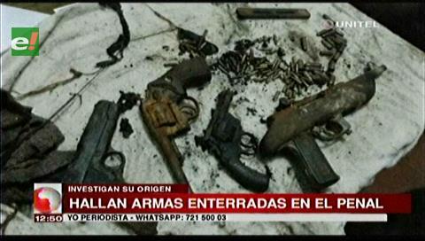 Las armas halladas en Palmasola serían de la masacre del 2013