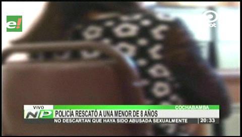 Policía rescata a una menor de 8 años que fue raptada en Mizque