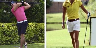 """Nicole Jung y Daniel Patiño, dos golfistas premiados con la """"Victoria Alada Dorada"""""""