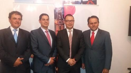 Rene Calvo, Fernando Lopez, Mauricio Ruegenberg y Marco Claros