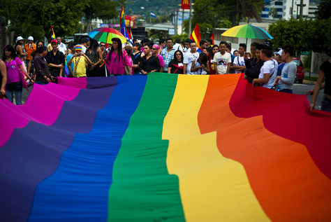 Una manifestación de los miembros de la comunidad gay y lesbiana. Foto: Human Rights Now