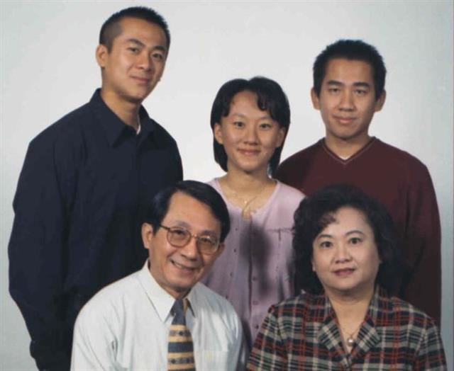 La familia Chang está representada aquí en esta foto de 1995, unos años después de su deserción a los Estados Unidos