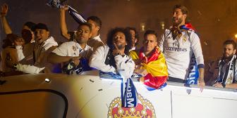 """El ofensivo cántico de algunos jugadores de Real Madrid: """"Piqué, cabrón, saluda al campeón"""""""