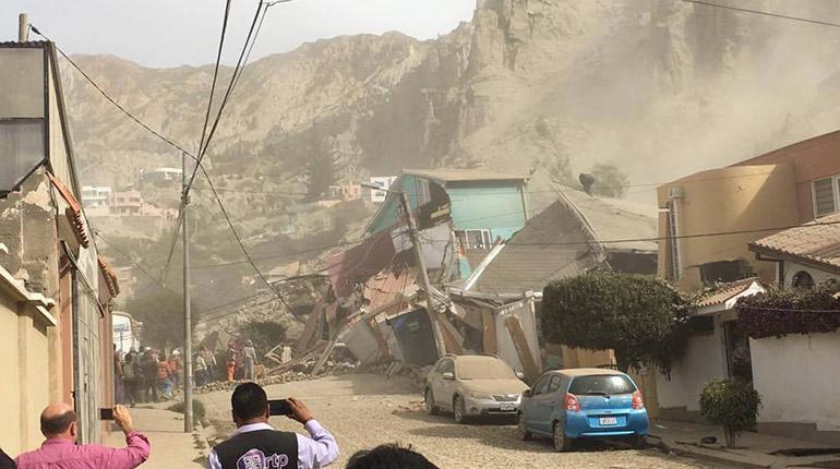 Resultado de imagen de informe del alcalde de La Paz sobre deslizamientos en Auquisamaña