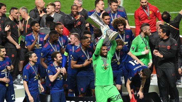 Manchester United venció 2 a 0 a Ajax en la final (Getty Images)