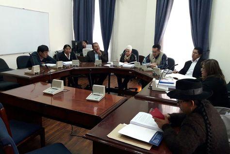 La Comisión de Constitución de la Cámara de Diputados en la sesión que trata la ley del Código de Sistema Penal.