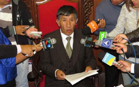 Resultado de imagen de El presidente del Tribunal Supremo de Justicia (TSJ), Pastor Mamani,