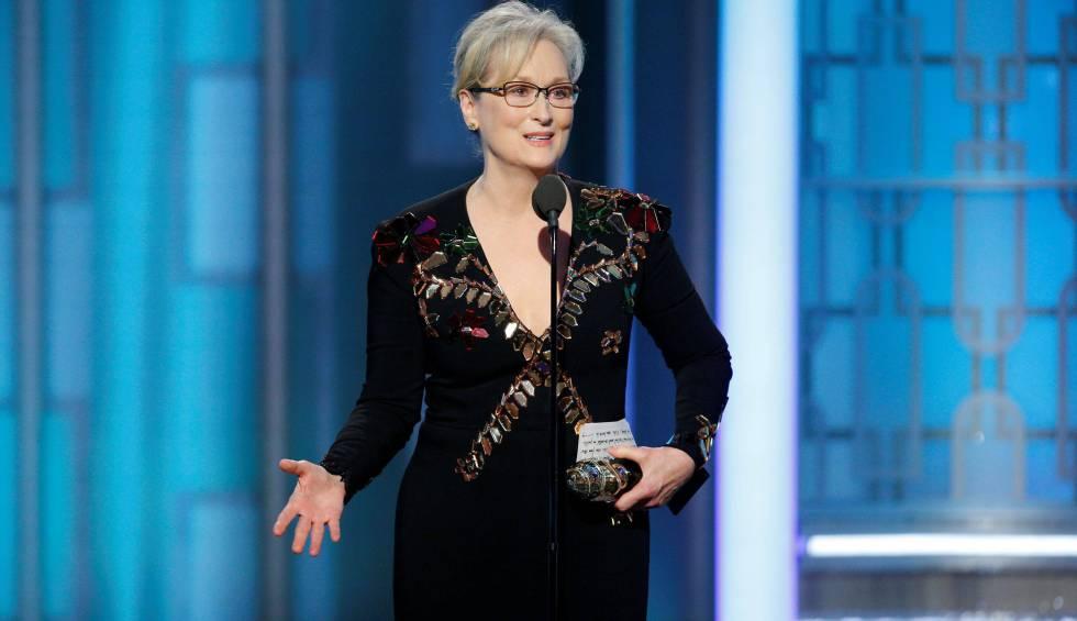 Meryl Streep, en la entrega de los Globos de Oro, en enero de este año.