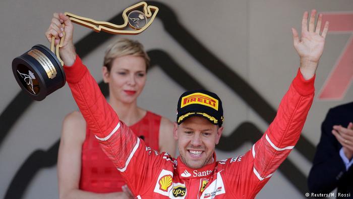Formel 1 Monaco Podium Vettel (Reuters/M. Rossi)
