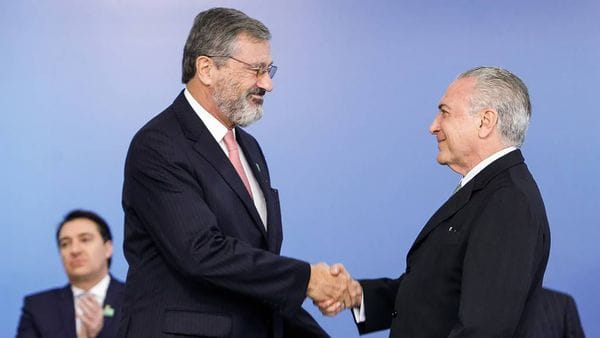 Torquato Jardim y Michel Temer