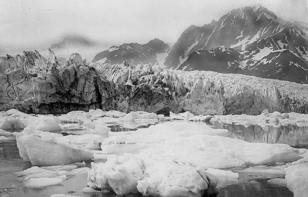 El glaciar Pedersen (Alaska), derretido en 1940.