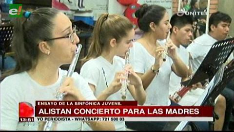 Orquesta Sinfónica Juvenil de Santa Cruz dará un concierto gratuito a las madres