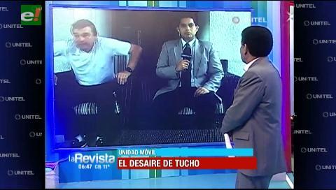 El desaire de Tucho: Cuando no te interesa si estás en una entrevista al vivo