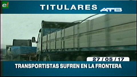 Video titulares de noticias de TV – Bolivia, mediodía del sábado 27 de mayo de 2017