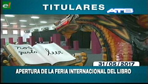 Video titulares de noticias de TV – Bolivia, mediodía del miércoles 31 de mayo de 2017