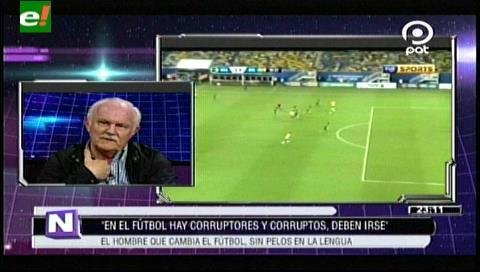 """Marco Peredo: """"En el fútbol hubo corruptos y corruptores"""""""