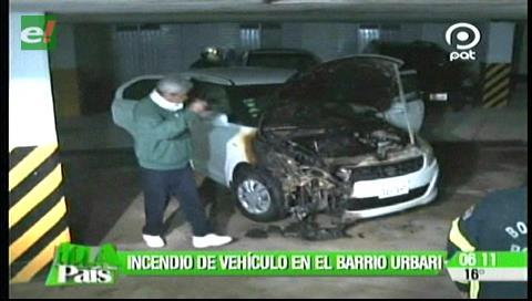 Vehículo se incendió en un condominio por el barrio Urbarí