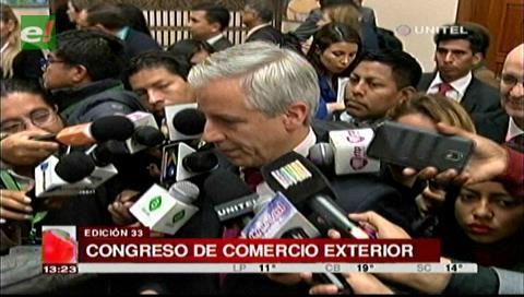 García Linera inaugura Congreso Latinoamericano de Comercio Exterior en Santa Cruz