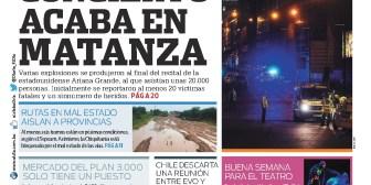 Portadas de periódicos de Bolivia del martes 23 de mayo de 2017