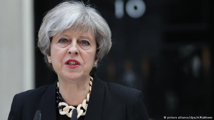 Theresa May Ansprache London (picture alliance/dpa/A.Matthews)