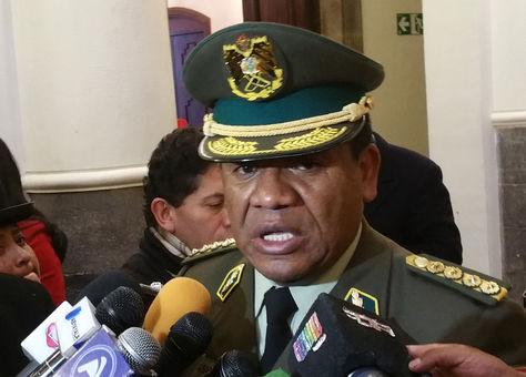 El comandante General de la Policía, general Abel de la Barra. Foto: La Razón