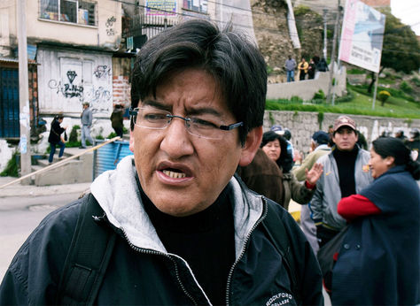 Jesús Vera, presidente de la Federación de Juntas Vecinales (Fejuve) La Paz.