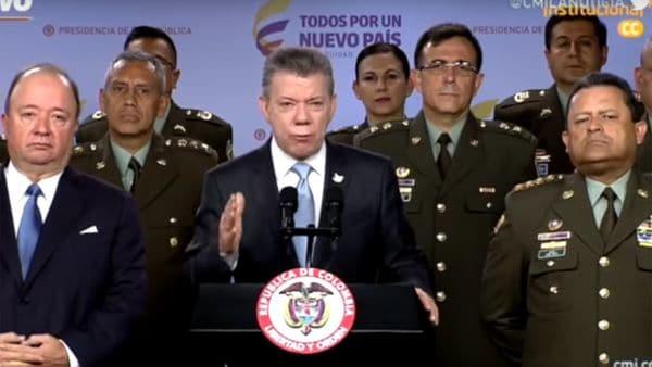 Juan Manuel Santos felicitó al Ejército por el operativo en Antioquia