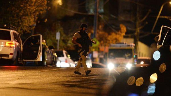 El terrorista abrió fuegocontra la policía (AFP)