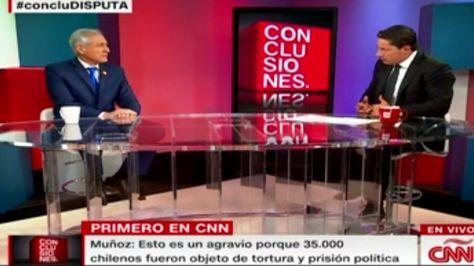 El canciller de Chile, Heraldo Muñoz, en entrevista con CNN. Foto: Captura de CNN