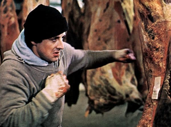 Escena de Rocky, protagonizada por Sylvestre Stallone.