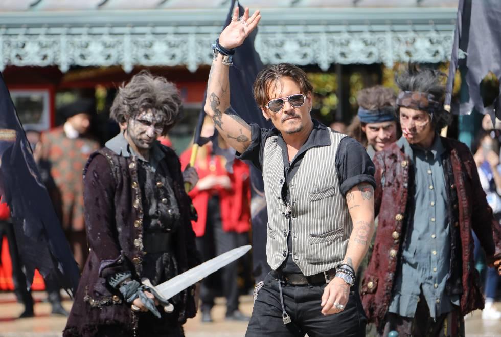 El actor durante la promoción de la última película de la saga