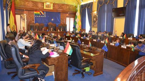 Una sesión de la Cámara de Senadores.