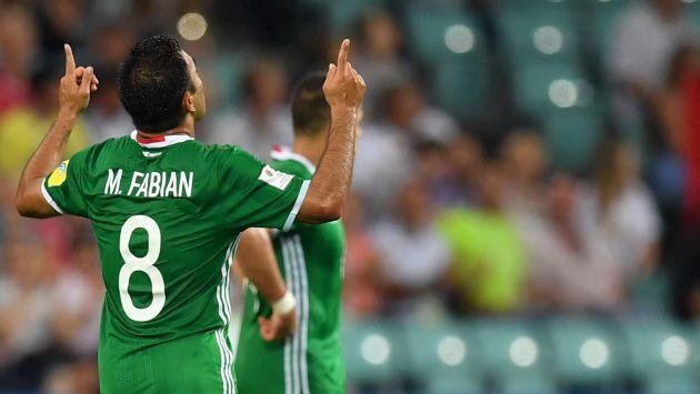 Marco Fabián marcó el 3-1 en la derrota de México ante Alemania por las semifinales de la Copa Confederaciones 2017. (AFP)