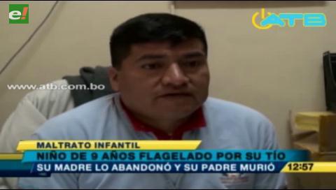 Niño de 9 años fue flagelado por su tío