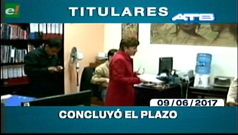 Video titulares de noticias de TV – Bolivia, noche del viernes 9 de junio de 2017