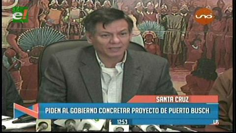 Cívicos y privados de Santa Cruz piden concretar Puerto Busch