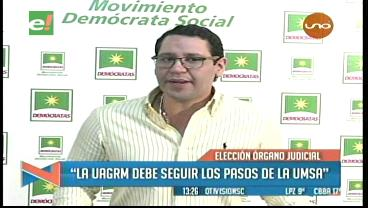 """Elecciones judiciales: """"La UAGRM debe seguir los pasos de la UMSA"""""""