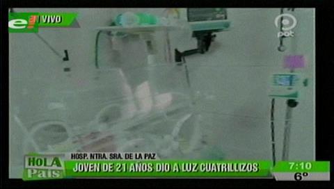 Nacen cuatrillizos en La Paz