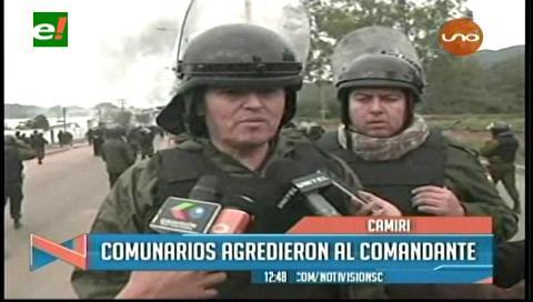 Comandante de la Policía responsabiliza a los cívicos de Camiri por actos vandálicos en el bloqueo